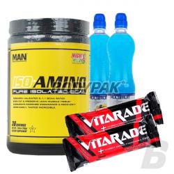 MAN ISO-AMINO - 210g + [FA Carborade Drink 2x750ml + Vitarade Endurance Bar 2x60g] GRATIS