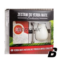Zestaw Yerba Mate EXCLUSIVE z Intenson - Energia 250g + Matero Calabaza śnieżna biel + Bombilla Alvaro