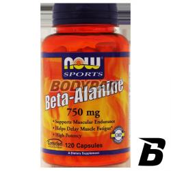 NOW Foods Beta-Alanine 750mg - 120 kaps.