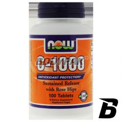 NOW Foods Vitamin C-1000 Rose Hips - 100 tabl.