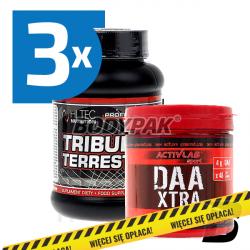 Hi Tec Tribulus Terrestris - 3x 60 kaps. + Activlab DAA Xtra - 240g