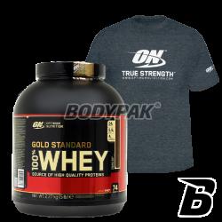 ON 100% Whey Gold Standard – 2270g + T-shirt ON True Strength 1 szt.