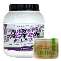 Trec Night Protein Blend - 1500g + Fitness Authority So good! Pro Nuts Butter - 450g GRATIS