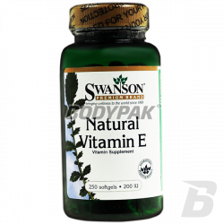 Swanson Natural Vitamin E 200 IU - 250 kaps.