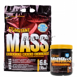 PVL Mutant Mass - 6,8kg + Mutant Madness - 55g GRATIS