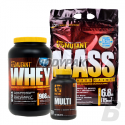 PVL Mutant Mass - 6,8kg + Mutant Whey - 908g + Mutant Core Multi - 60 tabl.