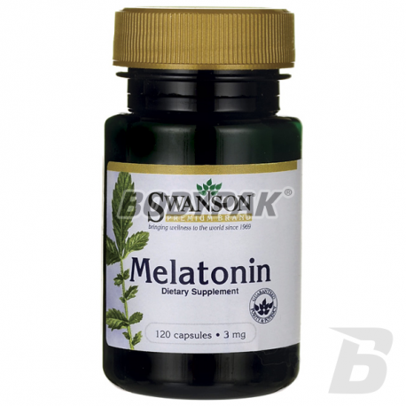 Swanson Melatonin 3mg - 120 kaps.