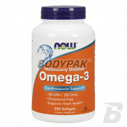 NOW Foods Omega 3 1000mg - 200 kaps.