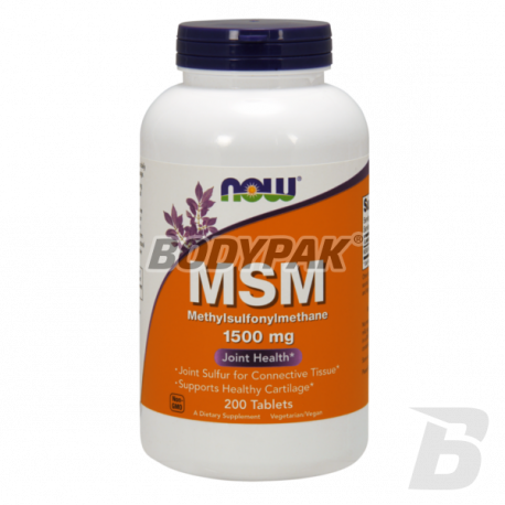 NOW Foods MSM 1500mg - 200 kaps.