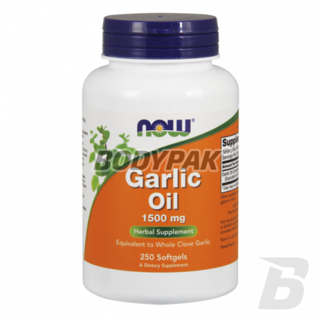 NOW Foods Garlic Oil 1500mg - 250 kaps.