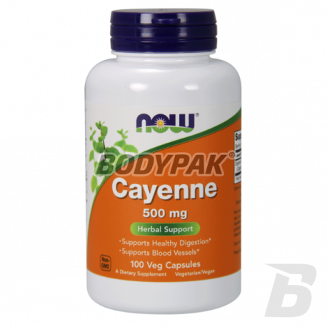 NOW Foods Cayenne 500mg - 100 kaps.