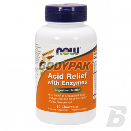 NOW Foods Acid Relief with Enzymes - 60 kaps.