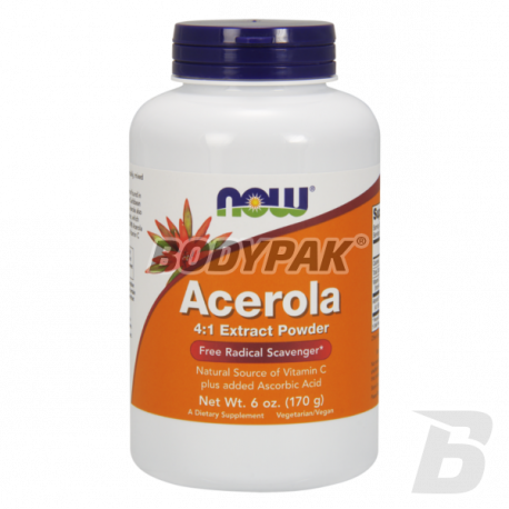 NOW Foods Acerola 4:1 Extract Powder - 170g