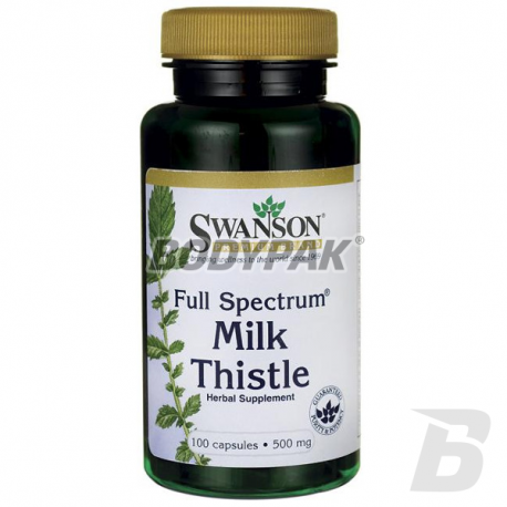 Swanson FS Milk Thistle 500mg - 100 kaps.