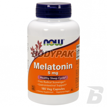 NOW Foods Melatonin 5mg - 180 kaps.