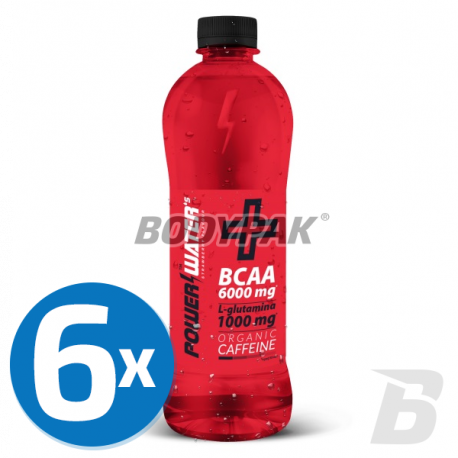 Power Water's +BCAA ORGANIC CAFFEINE - 6x 500ml