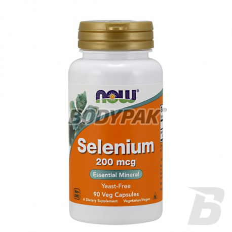 NOW Foods Selenium 200mcg - 90 kaps.