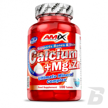Amix Calcium + Mg + Zn - 100 tabl.