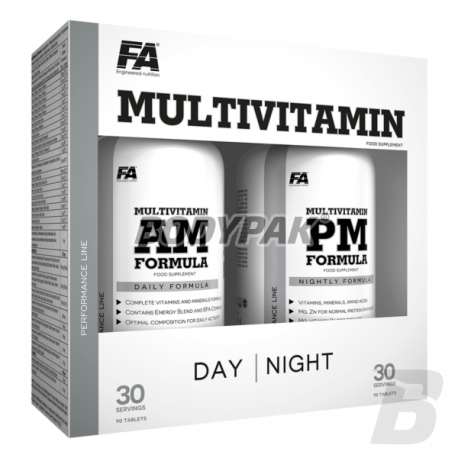 FA Nutrition Performance MultiVitamin AM + PM Formula - 90+90 kaps.