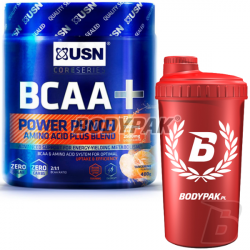 USN BCAA Power Punch - 400g + BODYPAK Shaker RED AMBASADOR - 700ml [GRATIS]