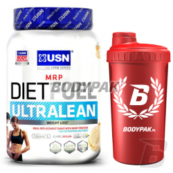 USN Diet Fuel ULTRALEAN - 1kg + BODYPAK Shaker RED AMBASADOR - 700ml [GRATIS]