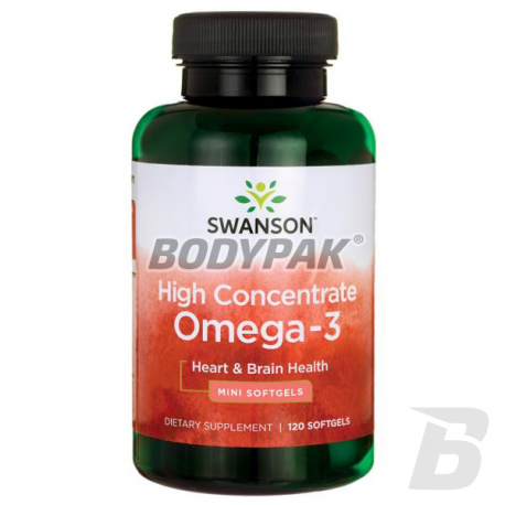 Swanson High Concentrate Omega-3 - 120 kaps.
