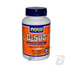 NOW Foods Vitamin C-500 with Rose Hips - 250 tabl.