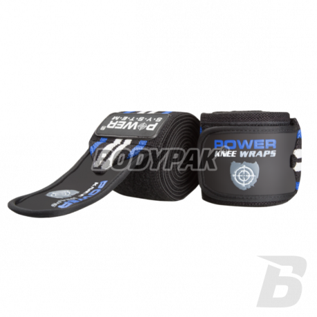 Power System Knee Wraps 3700 [Blue] - 1 komplet