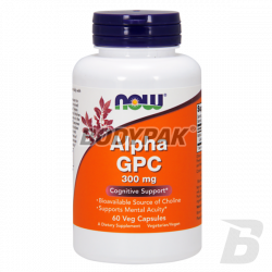 NOW Foods Alpha GPC 300mg - 60 kaps.