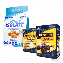6PAK Nutrition Whey Isolate - 1800g + [My Sweets Delicious - 120g & Wafers - 70g - GRATIS]