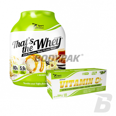 Sport Definition That's The Whey - 2,27kg + Vitamin C+ 1525mg  - 120 kaps. [GRATS]
