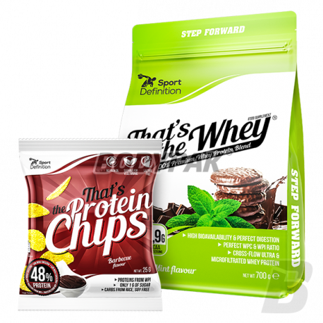Sport Definition That's The Whey - 700g + That's The Protein CHIPS [barbecue] - 25g [GRATIS]