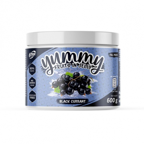 6PAK Yummy Fruits in Jelly 600g - Blackcurrant