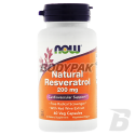 NOW Foods Natural Resveratrol 200mg - 60 kaps.
