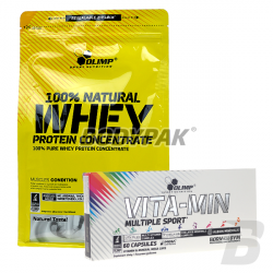 Olimp 100% Natural Whey Protein Concentrate - 700g + VITA-MIN Multiple Sport - 60 kaps.